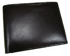 New Mens Leather Slim 6 Card Slot Bifold Wallet