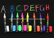 Liquid Chalk Highlighter Fluorescent Neon Marker Pen LED Window Art S8