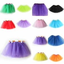 Princess Girls Kid 3 Layer Tutu Ballet Dance Dress Skirt Pettiskirt Costume 2-7T