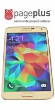 Unlocked White Pageplus Samsung Galaxy S5 SV - 16GB - 4G LTE - UNLIMITED DATA