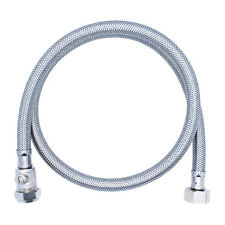 "(ONE or PAIR) 900mm FLEXIBLE HOSE TAP CONNECTOR 1/2"" x 15mm WITH ISOLATOR VALVE"