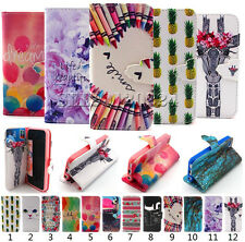 Various Flip Slot PU Leather Wallet Pouch Cover Case For Apple Samsung Phones