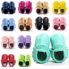 Cute Baby Boys Girls Toddler Infant Soft Mocassins Baby Tassel Crib Shoes 0-18M