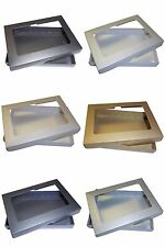 """Pearlescent 5""""x7"""" APERTURE Greeting Card Boxes, Wedding Choose Colour & Quantity"""