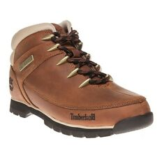 New Mens Timberland Tan Brown Euro Sprint Hiker Leather Boots Lace Up