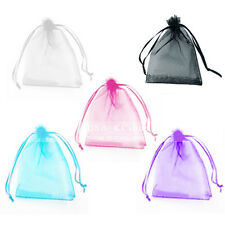 """New 4""""x5"""" 100pcs Organza Decoration Gift Jewelry Candy Pouch Wedding Favor Bags"""