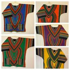 Mens New Dashiki Top Shirt African Hippie Vintage Womens Boho Free Size 54""