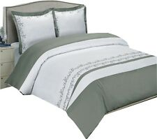 Amalia Gray Embroidered cotton 8PC Bed in a Bag !