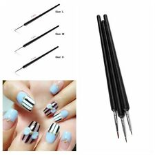 3Pcs Tiny Acrylic Nail Art Pen UV Gel Polish Brush Painting Drawing Tool Set M24