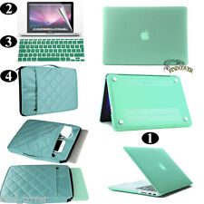 Green Rubberized Hard Case Carrying Bag Keyboard Cover For Apple Macbook