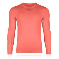 Canterbury Cold Mens Pink Running Training Long Sleeve Warm Baselayer Top