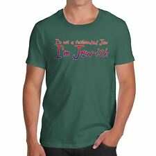 Twisted Envy Men's Funny I'm Jew-ish Organic Cotton T-Shirt
