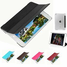 Premium Stand Leather Smart Cover and Hard Back Case for New Apple iPad Mini 4