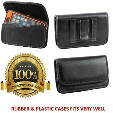 Leather Holster Pouch Cover With Belt Clip & Loop Holster To Hold Ballistic Case
