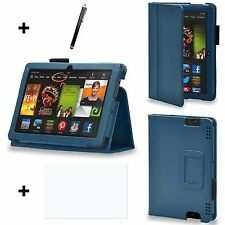 Leather Case Pack for Kindle fire HD 6 - Blue