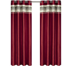 Red Polyester Blackout Multilayer Energy Saving Grommet Milan Curtain Panel