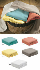 Pebble Waffle Weave All Seasons 100% Cotton Blanket - Single Double Queen / King