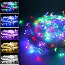 30M 200Led Twinkling/Static String Fairy Lights Christmas Xmas Garden In/Outdoor