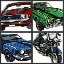 Muscle Cars And Motorcycles Collection  Embroidered Iron On Patch