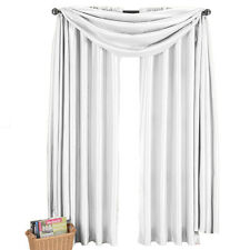 100% Polyester White Faux Silk Scarf Soho Panels, Multi-Sizes Chic Curtain