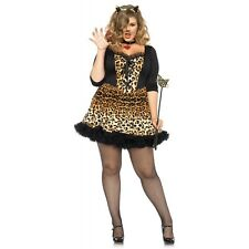 Cat Costume Adult Sexy Burlesque Kitty Outfit Halloween Fancy Dress