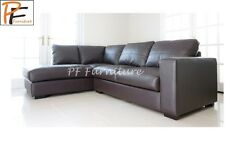 NEW WESTPOINT BIG CORNER SOFA IN BROWN REAL LEATHER