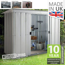 NEW 5x4 6x4 8x4 10x4 FT METAL PENT LEAN-TO GARDEN STEEL SHED TIN