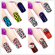 New French Manicure Nail Art Sticker Decals Leopard Style Sexy Nail Tattoo