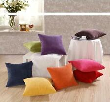 Solid Color Corduroy Cushion Covers Sofa Home Car Pillowslip Pillow Case 2 Sizes