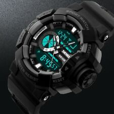 New Analog LED Digital Date Alarm Silicone Military Sport Army Men's Wrist Watch