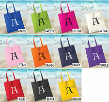 Customised A-Z Tote Bag Alphabet Letter Shopping Cotton Tote Bag Party Bag