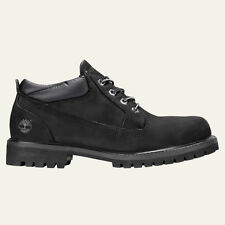 TIMBERLAND MEN'S CLASSIC OXFORD WATERPROOF BLACK WORK  BOOTS STYLE 73537