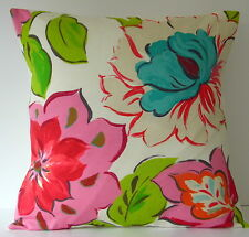 Prestigious Vegas Large Cerise Pink Lime Green Blue Flowers Cushion Cover