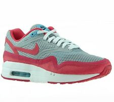 New Nike Air Max Women's 1 Br Sneaker Trainers 644443 001 Red / Gray Laufen