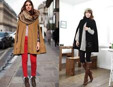 Winter Warm Women Batwing Cloak Cape Shawl Poncho Wrap Coat Parka Jacket CI8C