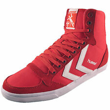 Hummel Womens Girls Slimmer Stadil High Retro Canvas Hi Top Trainers AUTHENTIC