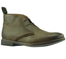 NEW Clarks Low shoes Mens-Boots Novato Mid Brown Leather shoes Boots