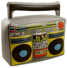 BLOW UP INFLATABLE BOOM BOX PARTY COSTUME MUSIC HIP HOP RETRO 80'S FANCY DRESS