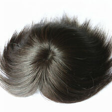 Hair replacement system toupee big mono top piece topper for men,100% human hair