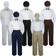 4pc Boys Suit Set Lime Green Bow Tie Baby Toddler Kid Uniform Pants Hat S-7