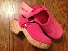 NWT Gymboree Classroom Kitty Coral Suede Clogs Bow Strap Sz 13