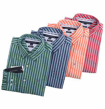 Tommy Hilfiger Men Long Sleeve Classic Fit Stripe Button Down Shirt - $0 Ship