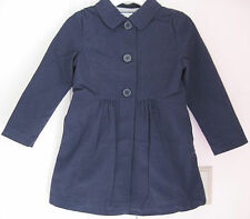 NWT Gymboree Girls Uniform Shop Gym Navy Blue Trench Coat/Jacket 5-6-7-8-10-12