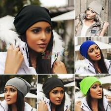 Men Women Winter Warm Knit Ski Crochet Slouch Hat Cap Unisex Beanie Hip-Hop Hats