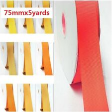 "by 5 Yards Grosgrain Ribbon 3"" / 75mm Wide for Wedding,Yellow-Orange"