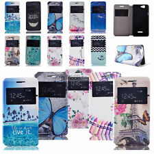 Vogue Patterned Windows Leather Case Cover  For Wiko Rainbow Bloom Birdy Getway