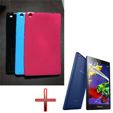 "ER Candy TPU Gel Rubber Soft Case Cover + Film For 8"" Lenovo Tab2 A8-50F Tablet"