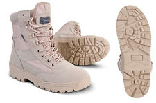 MILITARY ARMY DESERT COMBAT PATROL BOOT TACTICAL SAND TAN BEIGE LEATHER SUEDE