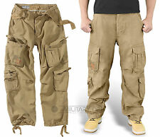 Surplus Airborne Trousers Beige Raw Vintage Cargo Tan Combat Coyote Pants Sand