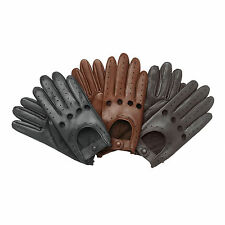 Mens Leather soft Driving Gloves Retro style Top quality Comfort Chauffeur